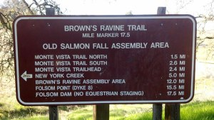 Brown's Ravine Trail Head